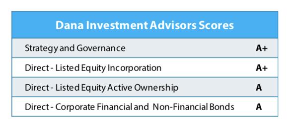Dana Investment Advisor Scores