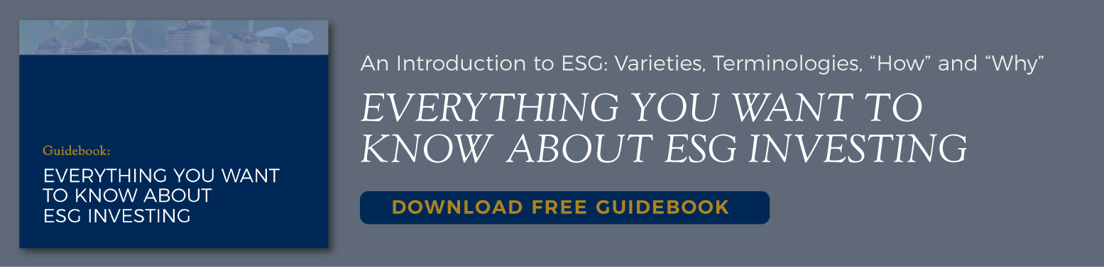 Guidebook: Everything You Want To Know About ESG Investing